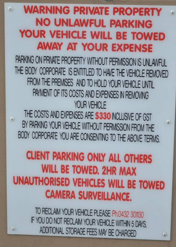 if you see this sign on premises it means that the business that owns the car park is contracted to permit the people from qpt towing to enter in to the car